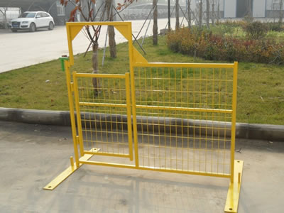 Temporary Fence Gate For Pedestrian And Vehicles