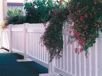 Event fencing serves as a barrier for the garden.